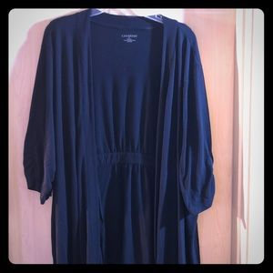 Catherine's shirt sleeve black jacket
